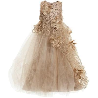 "NWT designer Mischka Aoki ""Isn't she beautiful"" gold Dress 8"