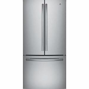 33'' GE counter depth refrigerator, french door, stainless