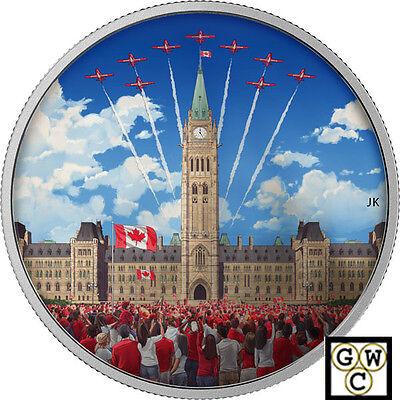 2017Celebrating Canada Dayphotoluminescent Color Prf  30Silver 2Oz  9999 18169