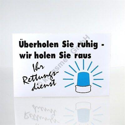 KFZ Aufkleber Rettungsdienst [ kingsmed GmbH | 1000-3601 ] Überholen Sie ruhig