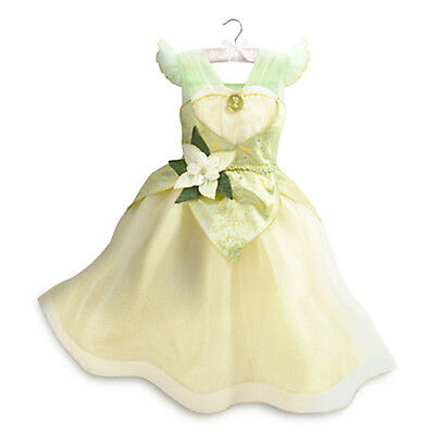 Nwt Disney Store Tiana Costume Dress The Frog Princess Gown 4 Girls