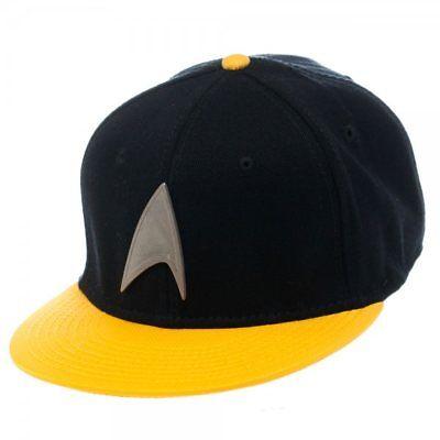 OFFICIAL YELLOW STAR TREK STARFLEET COMMAND YELLOW SNAPBACK CAP HAT BRAND NEW