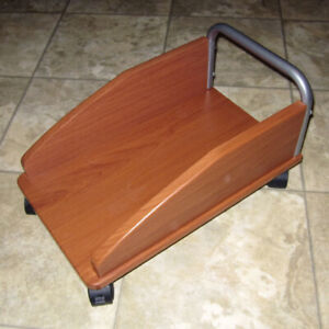 Computer / CPU tower cart stand holder trolley