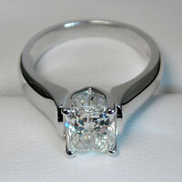 White gold diamond engagement ring 1.00CT Bague de fiançailles