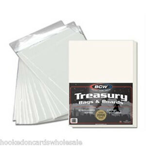25-BCW-Treasury-Bags-Backer-Boards-Comic-Book-Storage-10-1-2-x-13-1-2-flap