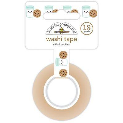 Scrapbooking Crafts Christmas Washi Tape Milk & Cookies Glasses Faces Choc - Christmas Washi Tape