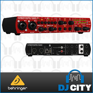 Behringer Firepower FCA610 Firewire/USB Audio Interface 6 In 10 Out with ADAT