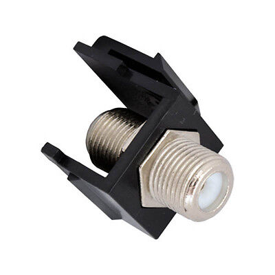 Eagle F Keystone Jack Black Insert Single F to F Connector Barrel F81 Coax Inser for sale  Shipping to India