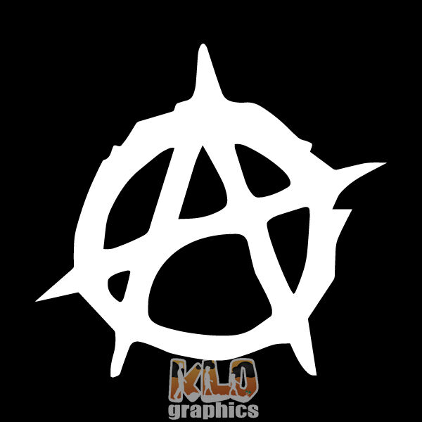 Home Decoration - ANARCHY SIGN vinyl Sticker / Decal Heavy Metal PUNK Chaos