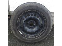 Spare wheel for Vauxhall corsa . Tyres are 185/65. £50.00