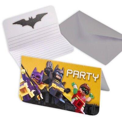 go Batman 8er Pack, inkl. Umschläge (Batman Lego Einladungen)