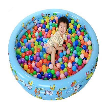 100 Pcs 5.5cm Soft Plastic Colorful Ocean Ball Baby Kids Fun Toy Swim Pit Game