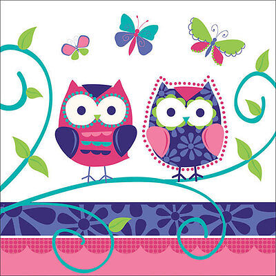 Owl Pal  Birthday Party Supplies Large Lunch Napkins](Owl Birthday Party)