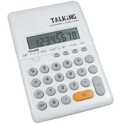 Talking Handheld Pocket Calculator with Alarm Clock - School, Office, Portable for sale  Shipping to India
