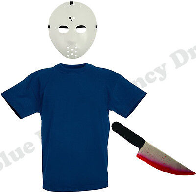 CHILDRENS KIDS BOYS JASON FRIDAY 13TH HALLOWEEN SCARY FANCY DRESS COSTUME 3-11
