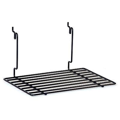 Flat Shelf Fits Slatwallgridpegboard In Black 12 W X 8 D Inches - Box Of 2