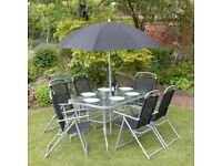 8 Piece Rectangular Garden Patio Furniture Set (FREE LOCAL DELIVERY)