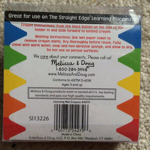 Melissa and Doug Learning Placemats and Crayons Kitchener / Waterloo Kitchener Area image 4