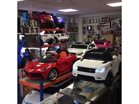 Open Sunday & Bank Holiday Monday from 12 to 7.30, Kids Ride On Car Large Selection