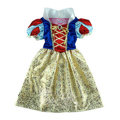 Snow White Outfit Kids (Kids Snow White Costume Fancy Dress Girls Princess Outfit Ages)