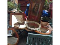 Bundle of mirrors plus vintage frame