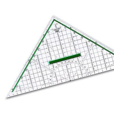 M+R 2332 Geometriedreieck 32 cm, mit Griff, glasklares Polystyrol