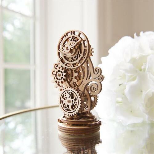 Ugears Steampunk Clock Mechanical Wooden Model KIT - 3D puzzle, Self Assembling