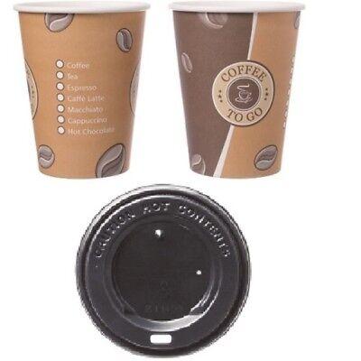 Kaffeebecher 300ml Pappbecher Cups Coffee to go Hartpapier 0,3l mit/ohne Deckel  Becher Deckel