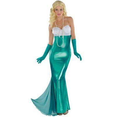 Sexy Mermaid Adult Costume Fairytale Ladies Ariel Fancy Dress Womens Size 8-10