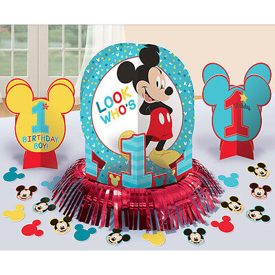 Baby Mickey Mouse 1st Table Centerpieces Plus Confetti Birthday Supplies - Mickey Mouse Centerpieces