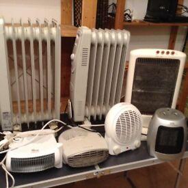7 heaters job lot