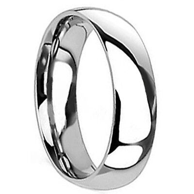 Mens TITANIUM 6MM High Polished Engagement Wedding Anniversary Band Ring His - 6mm Mens Wedding Band