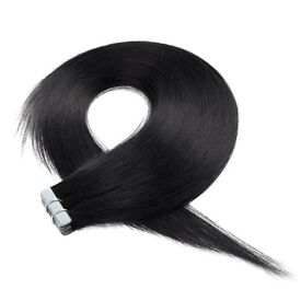 18 inch jet black tape weft extensions