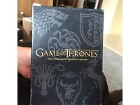 Game of Thrones Box sets Series 2 and 4/ Xfiles series 1 box set