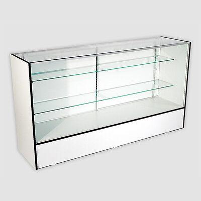 White Knock Down Display Case 18d X 38h X 70l