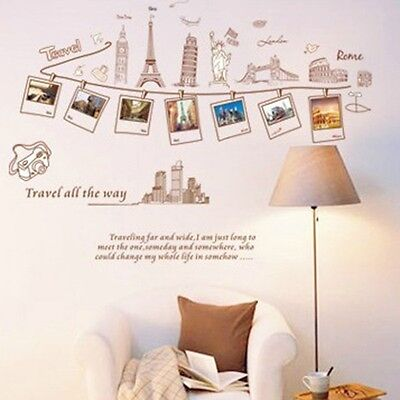 Euramerican Style Travel Removable Wall Stickers For Sofa Bedroom Sitting Room Ebay