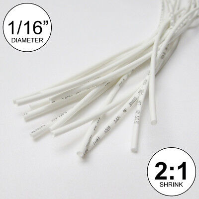 116 Id White Heat Shrink Tube 21 Ratio Polyolefin 25 Ft Inchfeetto 1.5mm