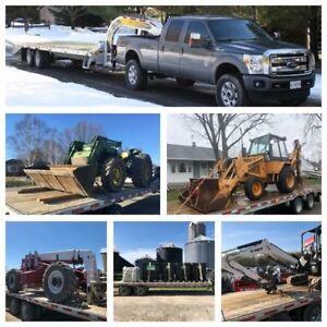 Equipment Float Transportation,Tractors, Trucks,Backhoes