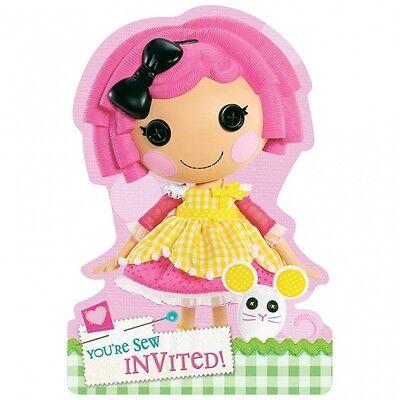 8 Lalaloopsy Pink Rag Doll Childrens Birthday Party Invitations Plus Envelopes - Lalaloopsy Birthday Invitations