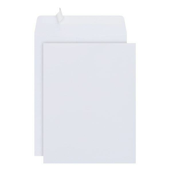 "Office Depot Brand 10"" x 13"" White Clean Seal Catalog Envelopes, 100-Pk"