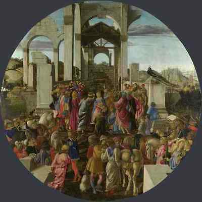 Sandro Botticelli The Adoration Of The Kings A4 Print