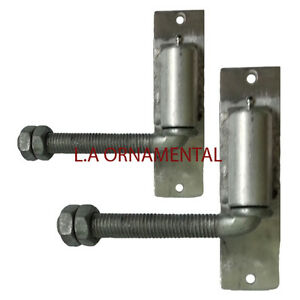 3 4 j bolt gate hinge aluminum adjustable pair heavy duty for Driveway gate hardware heavy duty