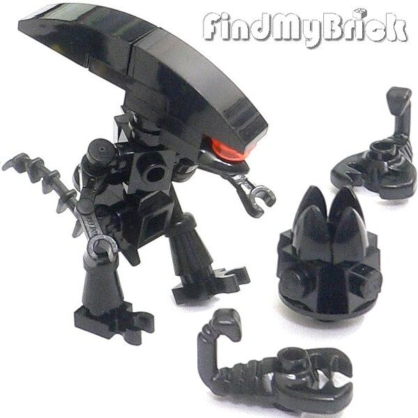 Lego Moc Minifigure XENOMORPH Alien Egg Included ALIEN QUEEN