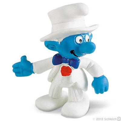 Groom Smurf 2 inch Plastic Wedding Figure 20413 Bridegroom Figurine