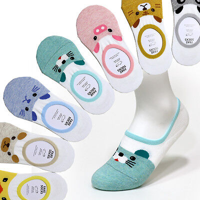 7 Pairs Animal Character Socks Women Girls Socks No Show Liner Fake Peds Socks