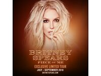 LESS THAN FACE VALUE 2 x Britney Spears, Fri 24 Aug, Piece of Me tickets: London, O2.