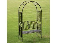 Large full size bronze garden rose bench brand new boxed