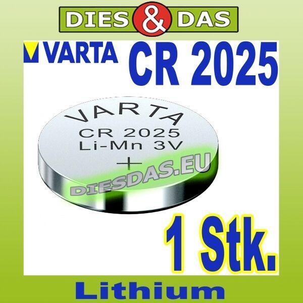 1 Piece Varta CR 2025 Battery Konpfzelle