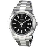 Rolex Datejust II Black Dial Stainless Steel Automatic Mens Watch