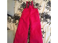 Girls snow trousers age 7-8 brand new